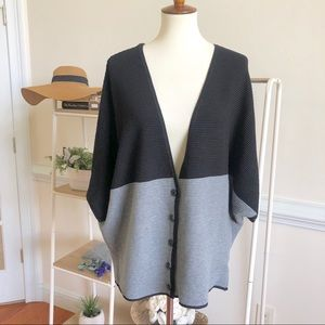 Lane Bryant ribbed color block cardigan sweater